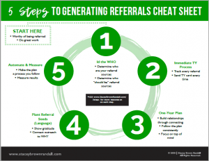 5 Steps to Generate Referrals - Stacey Brown Randall