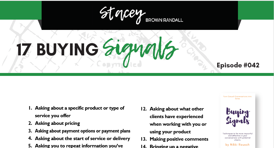 Never miss one of the 17 buying signals of your prospects